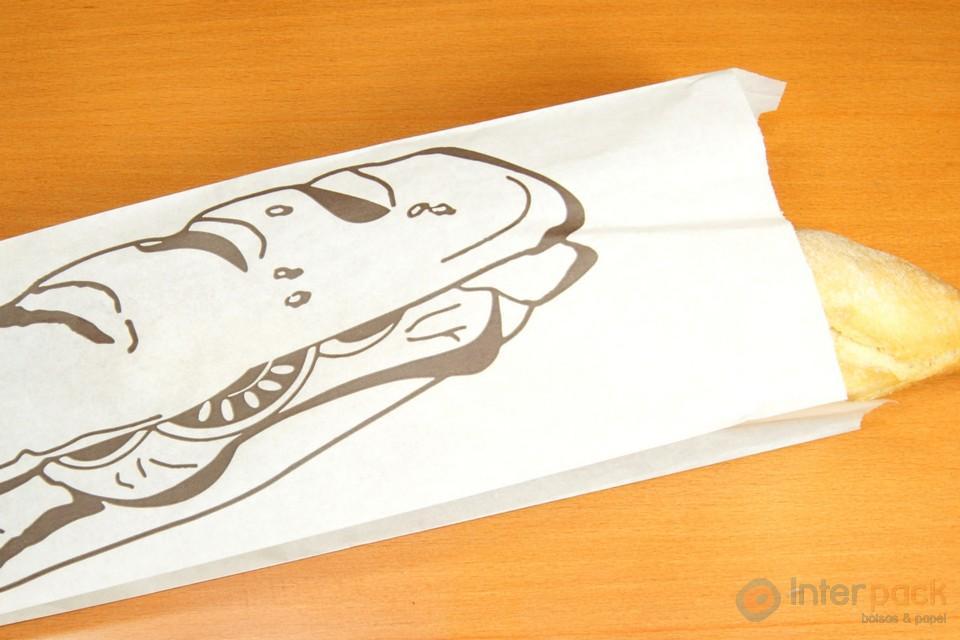 Bolsas de papel blanco impresas