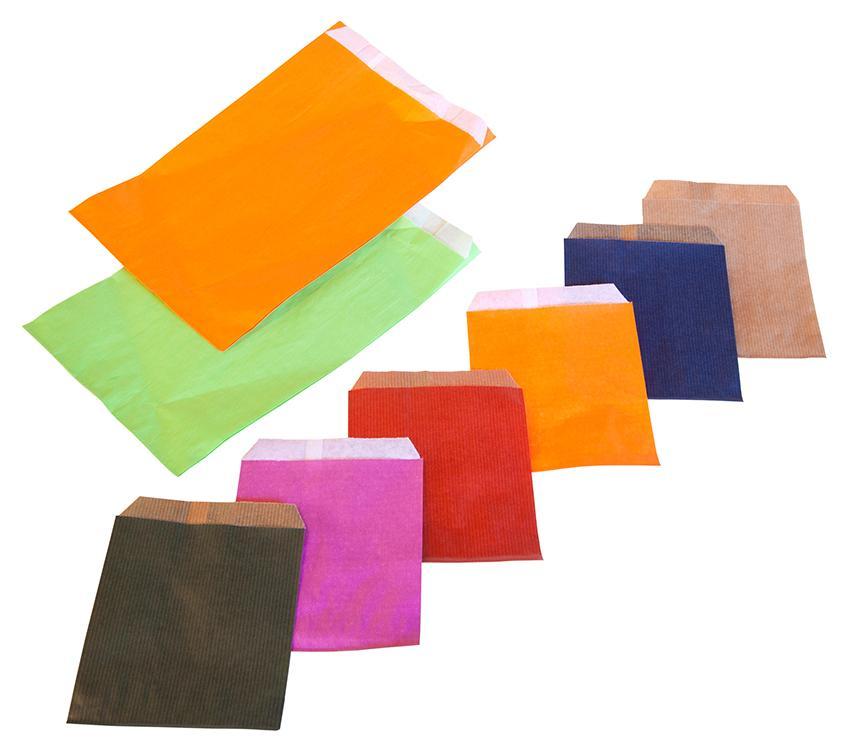 bolsas papel colores